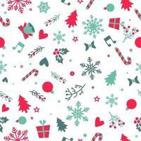 nahtloses Muster der Weihnachtselemente vektor