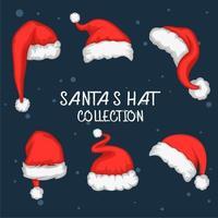 tecknad santa hatt samling