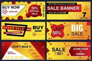 Reihe von Verkaufsbannern für Online-Shopping
