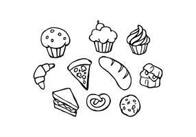 Gratis bageri skiss ikon vektor