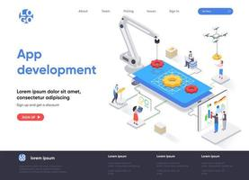 app-utveckling isometrisk målsida vektor
