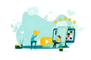 bloggkoncept i platt stil vektor