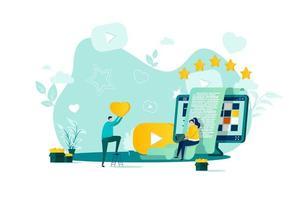 Blogging-Konzept im flachen Stil