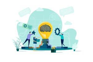 Brainstorming-Konzept im flachen Stil