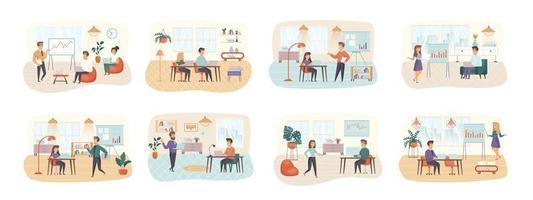 Office Manager-Bündel von Szenen mit Personencharakteren