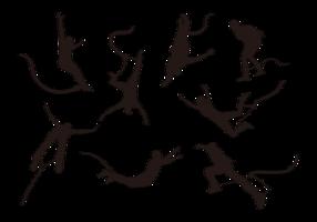 Bungee hoppande silhuetter vektor