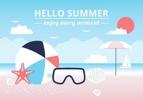 Gratis Hello Summer Vector Bakgrund