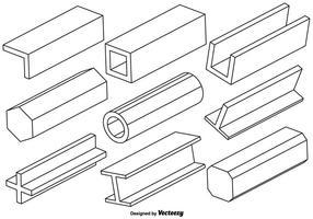 Vector Set von Träger