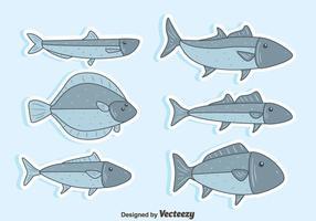 Trevlig fisk samling vektor
