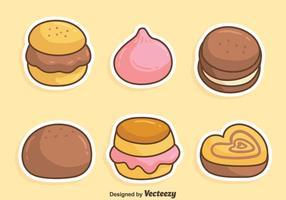 Süßer Kuchen Bäckerei Vektor