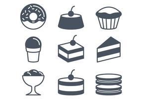 Cafe und Süßigkeiten Icons