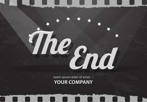 Das Ende Kredite der Stummfilm Vektor