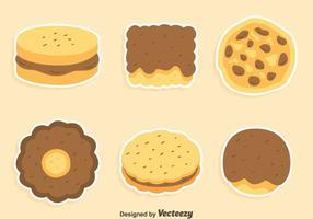 Cookies Und Kuchen Sammlung Vektor