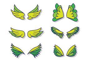 Platta ängelvingar vektor