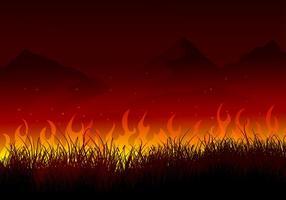 Brinnande buske bakgrund fri vektor