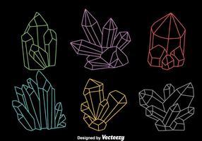 Färgglada Line Quartz-vektorer vektor