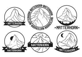 Matterhorn-Vektor-Set vektor