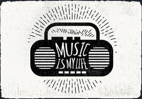 Gratis Vintage Musikspelare Vektorillustration