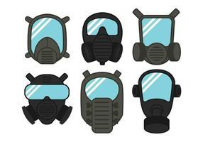 Respirator-Vektor-Set