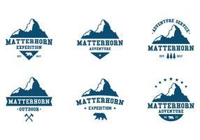 Matterhorn Abenteuer Label vektor