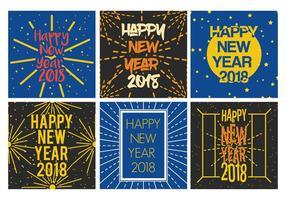 Frohes neues Jahr Vektor Set