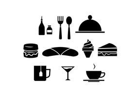 Kostenloses Restaurant Silhouette Icon Vektor