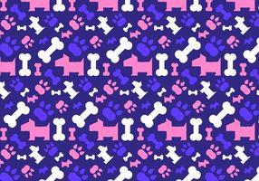 Hund Biskuit Muster Vektor
