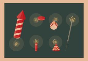 Diwali crackers vektor samling