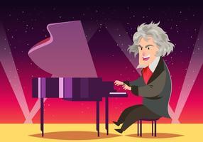 Komponist Ludwig Van Beethoven vektor