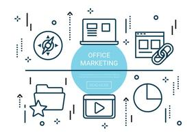Kostenlose Linear Office Marketing Elemente
