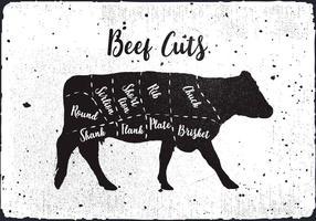 Free Beef Cuts Vektor Hintergrund