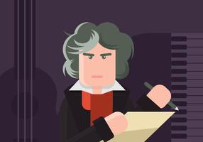 Beethoven illustration vektor