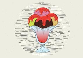 Free Vektor Hand gezeichnet Eis Illustration