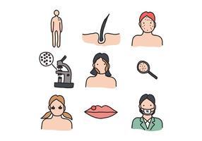 Gehen zu den Dermatologen Vektoren