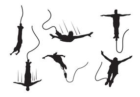 Bungee silhouette vektor