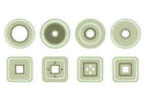 Set Eyelet Icons vektor