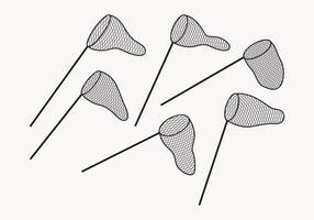 Fjäril netto vektor samling