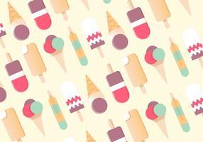Free Flat Design Vektor Eiscreme Muster Hintergrund