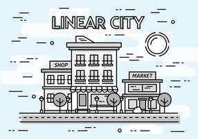 Free Linear Cityscape Vektor Hintergrund