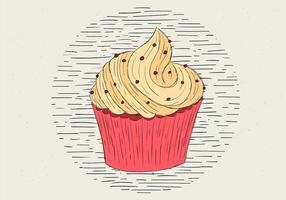 Fri handdragen vektor muffinsillustration