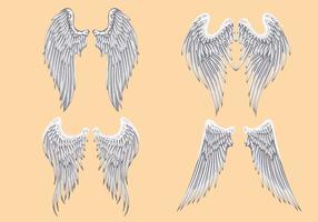 Vector heraldische Engelsflügel