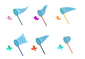 Schmetterlingsnetz Vektor