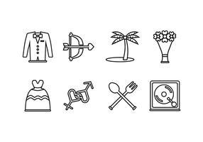 Hochzeitsfeier Vektor Icons