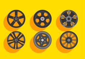 Alloy Wheels Set Gratis Vector