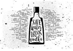 Fri handdragen dryckesbakgrund vektor