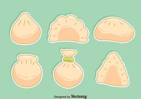 Handdragen dumplingsvektor vektor