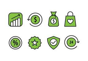 Online-Shopping-Icons vektor