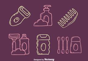 Skizze Hygiene Element Vektoren