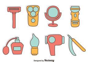 Hand gezeichnet Friseur Werkzeuge Vektor