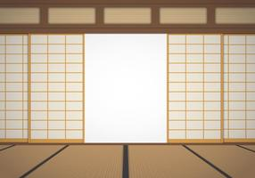 Illustration av Dojo Room vektor